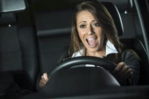 woman has fear of driving
